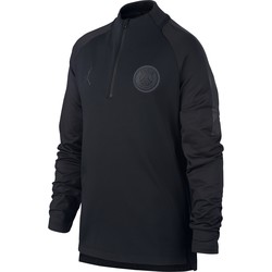 Sweat zippé junior PSG Jordan noir 2018/19