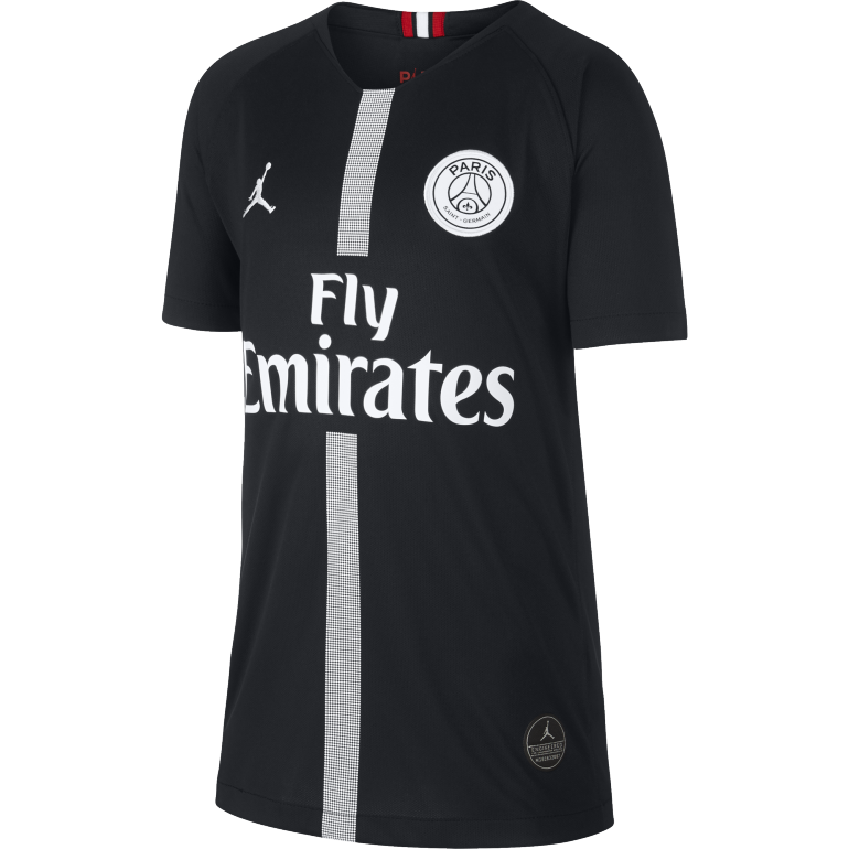 Maillot junior PSG Jordan third noir 2018/19