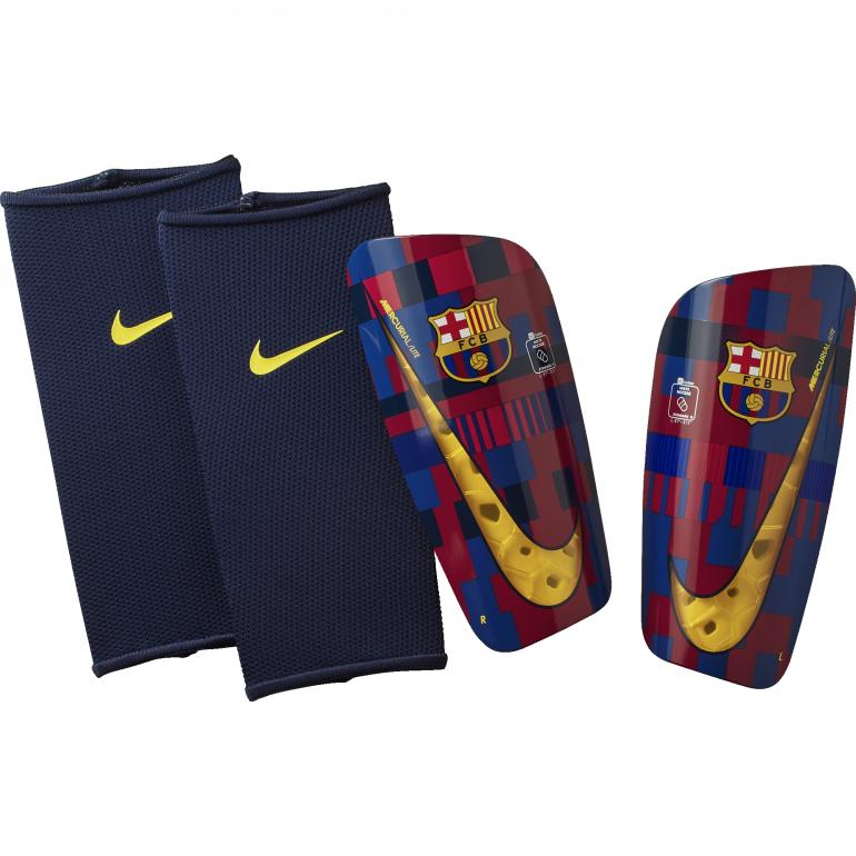 Protège tibias FC Barcelone Mercurial Lite bleu rouge 2018/19