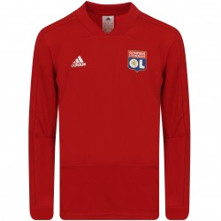 Sweat entraînement junior OL rouge 2018/19