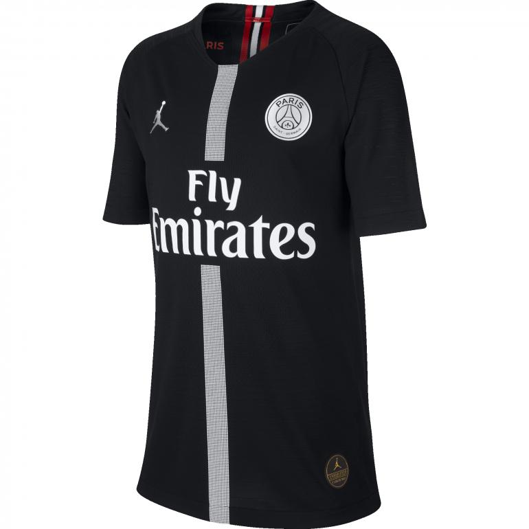 Maillot junior PSG Jordan noir authentique 2018/19