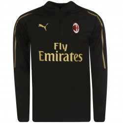 Sweat zippé Milan AC noir or 2018/19