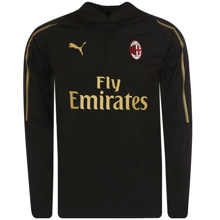 Sweat zippé Milan AC noir or 2018/19