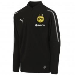 Sweat zippé junior Dortmund noir 2018/19
