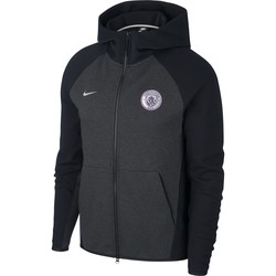 Veste survêtement Manchester City Tech Fleece gris noir 2018/19