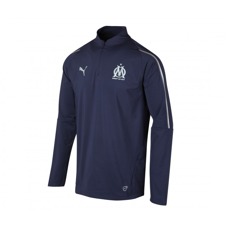 Sweat zippé junior OM bleu 2018/19