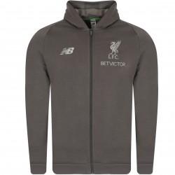 Veste survêtement à capuche Liverpool Elite gris 2018/19