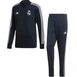 Ensemble survêtement sweat Real Madrid noir bleu 2018/19