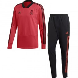 Ensemble survêtement sweat Real Madrid Europe rouge 2018/19