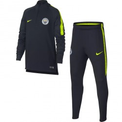Ensemble survêtement sweat junior Manchester City noir jaune 2018/19