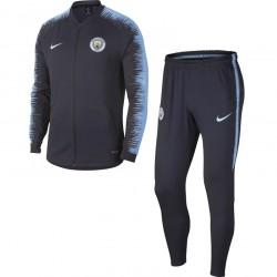 Ensemble survêtement Manchester City bleu foncé 2018/19