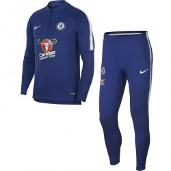 Ensemble survêtement sweat Chelsea bleu 2018/19