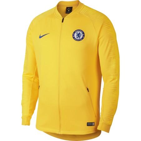 Ensemble survêtement Chelsea bleu jaune 2018/19