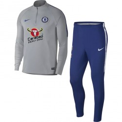 Ensemble survêtement sweat Chelsea gris 2018/19