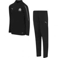 Ensemble survêtement sweat junior OM noir 2018/19