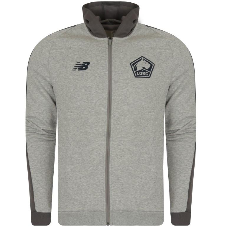 Veste survêtement à capuche LOSC Elite gris 2018/19