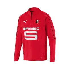 Sweat zippé junior Stade Rennais rouge 2017/18