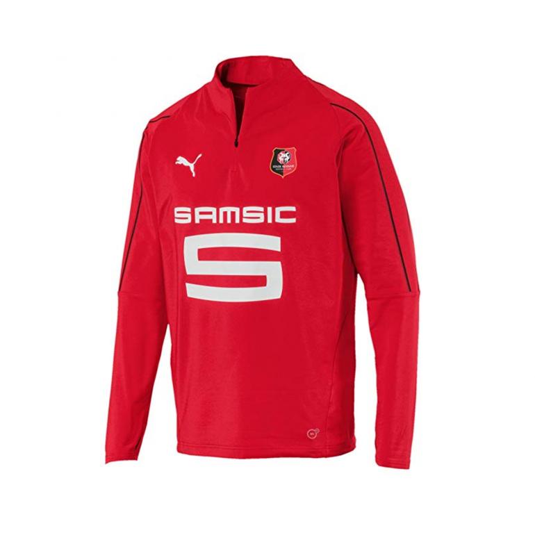 Sweat zippé junior Stade Rennais rouge 2017/18