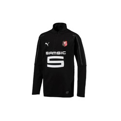 Sweat zippé junior Stade Rennais noir 2017/18