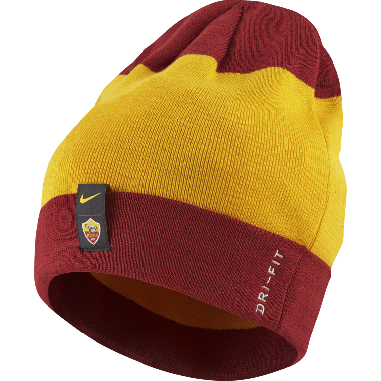 Bonnet AS Roma rouge jaune 2018/19