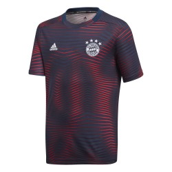 Maillot avant match junior Bayern Munich bleu rouge 2018/19