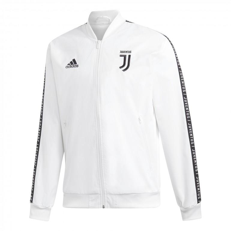 Veste survêtement Juventus anthem blanc 2018 19 sur Foot.fr 5d74ae9c301