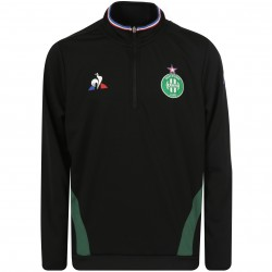 Sweat zippé junior ASSE noir 2018/19