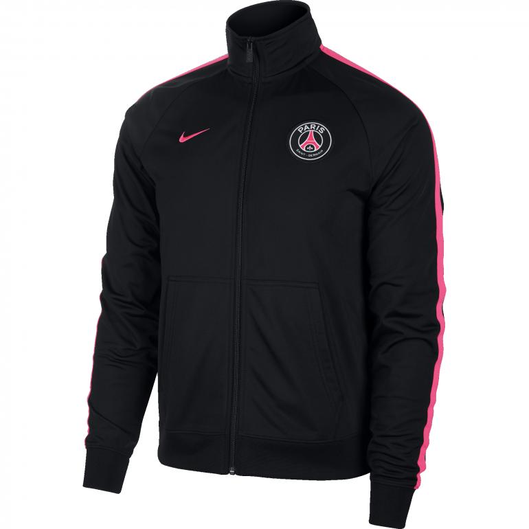 Veste survêtement PSG noir rose 2018 19 sur Foot.fr 0048a21861c
