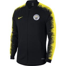 Veste survêtement Manchester City noir jaune 2018/19