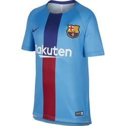 Maillot entraînement junior FC Barcelone bleu rouge 2018/19