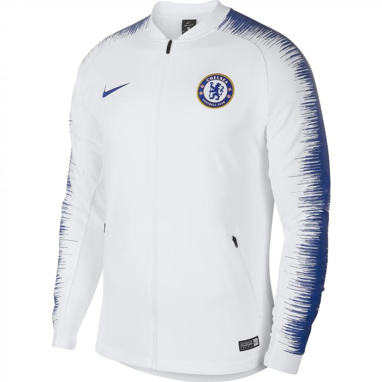 Veste survêtement Chelsea blanc bleu 2018/19