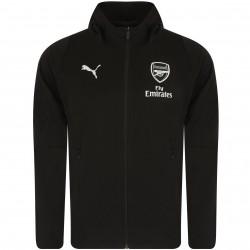 Veste survêtement Arsenal casual noir 2018/19
