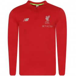 Sweat zippé Liverpool rouge 2018/19