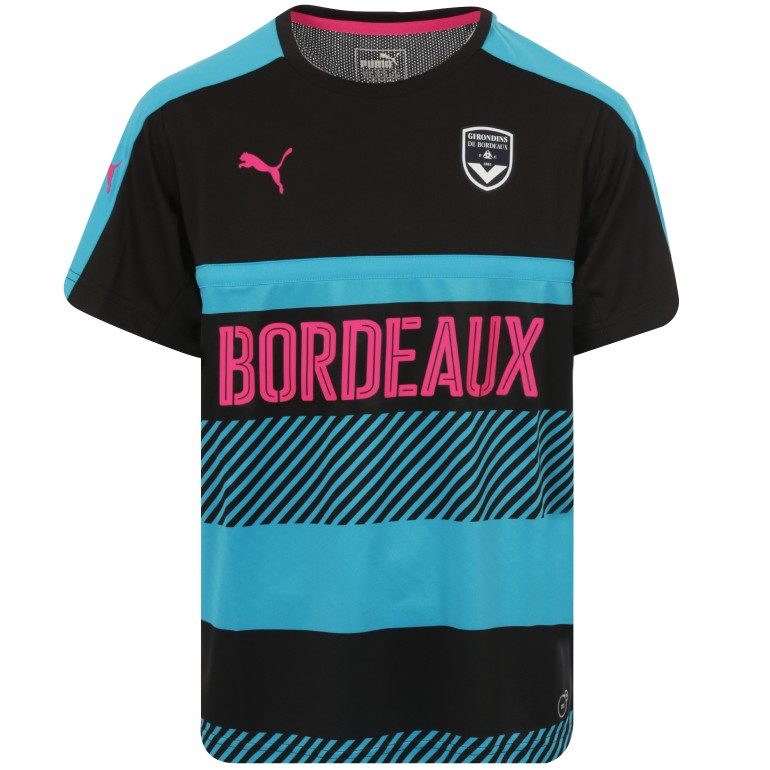 Maillot entrainement junior Bordeaux noir 2017/18