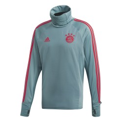 Sweat col montant Bayern munich gris rouge 2018/19