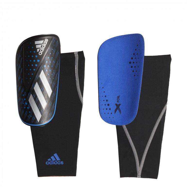 Protège tibias adidas X Foil noir bleu 2019/20