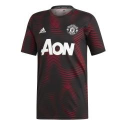 Maillot avant match Manchester United noir rouge 2018/19
