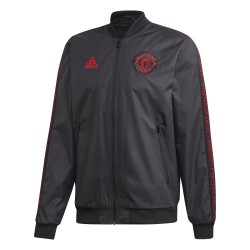 Veste survêtement Manchester United anthem noir rouge 2018/19