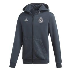 Veste survêtement à capuche junior Real Madrid bleu foncé 2018/19