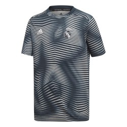 Maillot avant match junior Real Madrid bleu rayé 2018/19