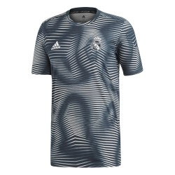 Maillot avant match Real Madrid bleu rayé 2018/19