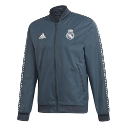 Veste survêtement Real Madrid Anthem bleu 2018/19