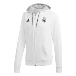 Veste survêtement Real Madrid FZ blanc 2018/19