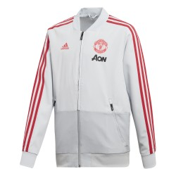 Veste survêtement junior Manchester United blanc rouge 2018/19