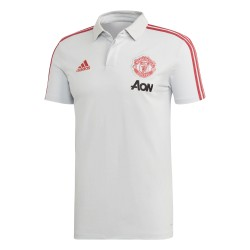 Polo Manchester United blanc rouge 2018/19