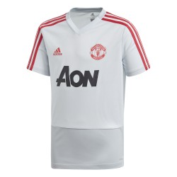 Maillot entraînement junior Manchester United blanc rouge 2018/19