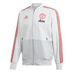 Veste survêtement Manchester United blanc rouge 2018/19