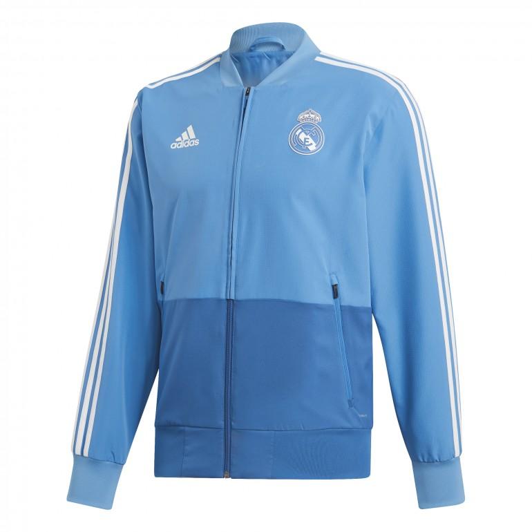 Veste survêtement Real Madrid bleu ciel 2018/19