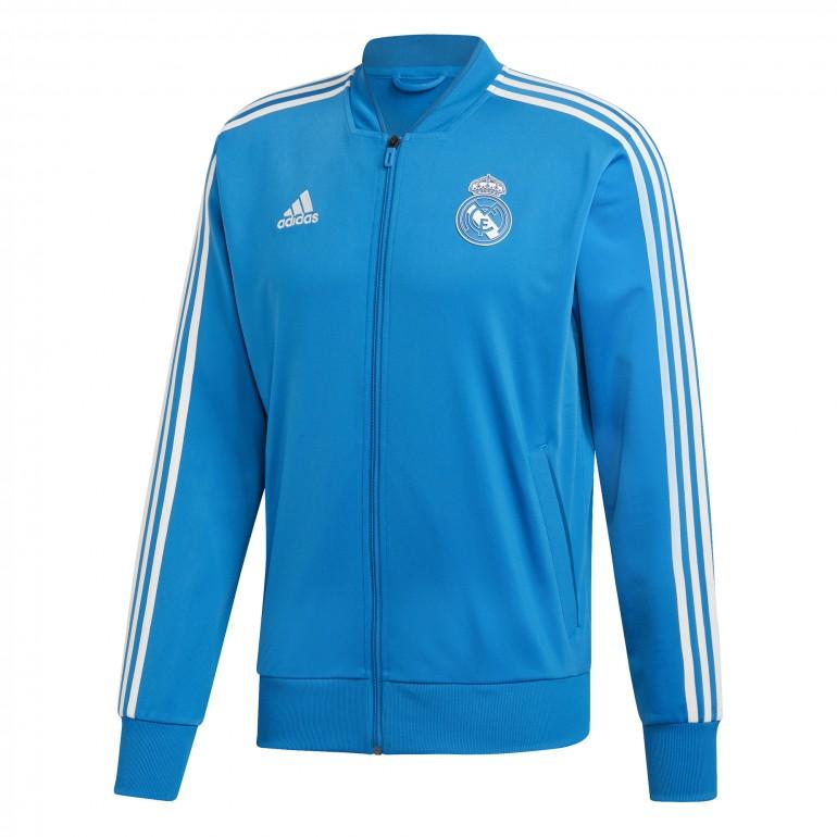 3086b469c6445 Vestes, gilets Adidas Real Madrid Femme Veste De Survêtement-Bleu Sports,  vacances