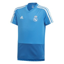 Maillot entraînement junior Real Madrid bleu ciel 2018/19